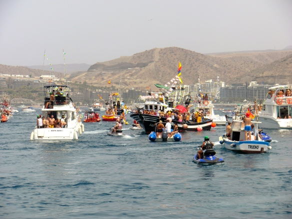 The boats begin their journey (2012)